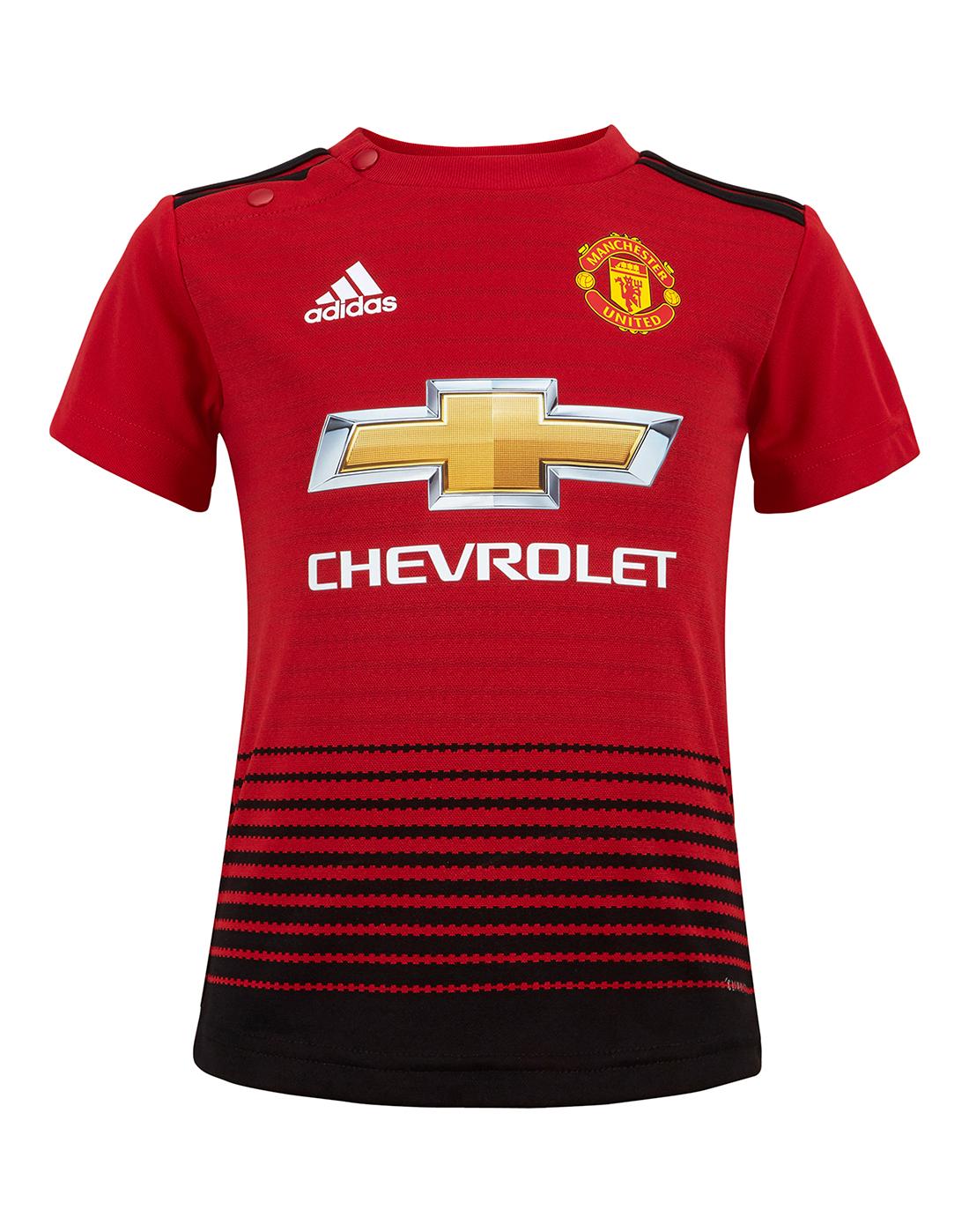 e19123b13 ... Infants Man Utd 18 19 Home Kit ...