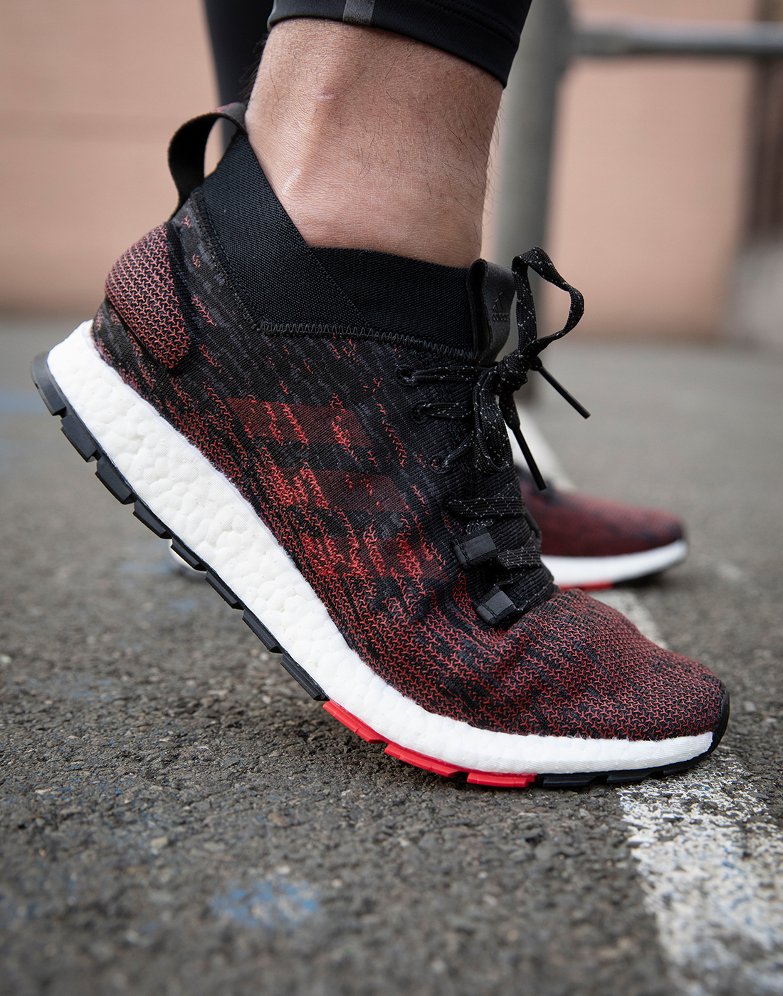 f8892a72658 Men s Black   Red adidas Pureboost Running Shoes