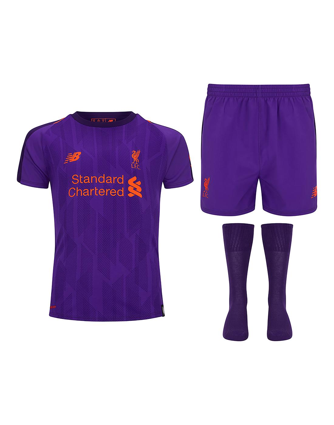 Kids Liverpool Away 18 19 Kit ... 956324dec